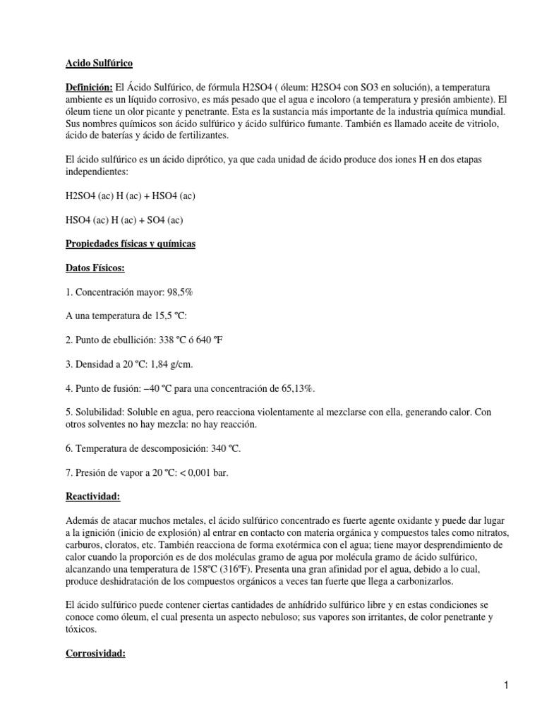 Acido Sulfurico