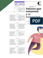 Valores que renuevan la humanidad