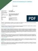Formulário de Aceitação de Serviços de Investimento