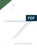 Cours de Fiscalité du Patrimoine..