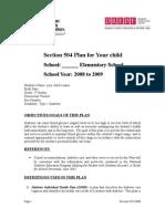 diabetes del plan fl 504