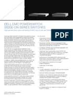 Dell Emc Networking-s5200 on Spec Sheet