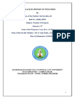 Eposit of Title Deed - Transfer of Property - Research Paper