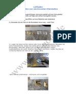 Leitfaden-Chrombuchstaben-vergolden