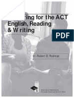 Preparing for the Act English Reading Writing