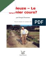 Deleuze Le Dernier Cours