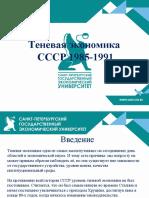Теневая экономика Ссср 1985-1991