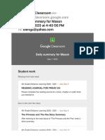Daily Summary for Mason