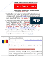 Alerte de călători - Republica Moldova, 26.02.2021