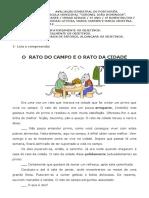AVALIAÇÃO BIMESTRAL DE PORTUGUÊS 3º bi 1
