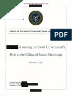 Assessment Saudi Gov Role in Khashoggi Death