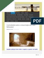 Contradiçoes Sobre a Ressurreiçao