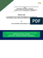 SDHG- Projet sur la Construction d'un  CENTRE KENE ET REEDUCATION FONCTIONNEL- CKRF-V1-2020