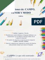 Campo, Tenor y Modo - Coloquio