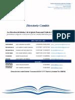 Directorio Comités Distritales  2021-2022