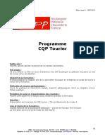 Programme CQP Tourier PAT