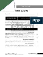 Índice de la revista Actualidad Penal n.° 80