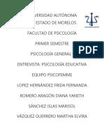 Entrevista Psicología Educativa