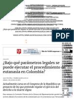 ¿Bajo qué parámetros legales se puede ejecutar la eutanasia en Colombia_