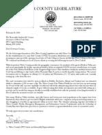 Ulster County Legislature Letter to Gov. Cuomo, 2-24-21