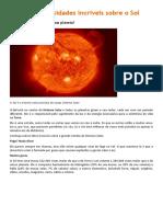 Aprenda Curiosidades Incríveis Sobre o Sol