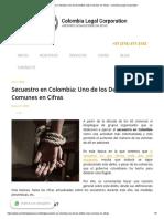 Secuestro en Colombia_ Uno de los Delitos más Comunes en Cifras - Colombia Legal Corporation