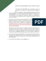 Documentos Normativa de Funcionamiento Del Instituto Nueva Arequipa