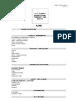 MGT 338 Resume Format