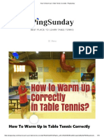 How To Warm Up in Table Tennis Correctly • PingSunday