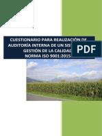 Check List Auditoria ISO 9001 2015