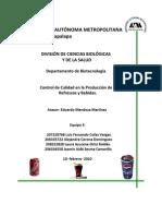 Control de Calidad en la producción de refrescos y bebidas