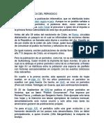 Reseña Historica Del Periodico