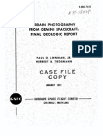 Terrain Photography From Gemini Spacecraft Final Geologic Report