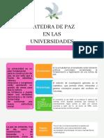 Catedra de Paz en Las Universidades