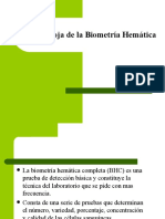 Fórmula roja de la Biometría Hemática