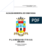 Plan de Arbitrios Comayagua 2019