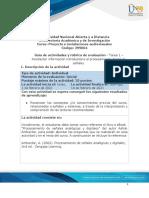 Guia de actividades y Rúbrica de evaluación - Tarea 1 - Recolectar información introductoria al procesamiento digital de señales (1)