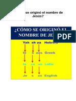 Cómo se originó el nombre de Jesú1