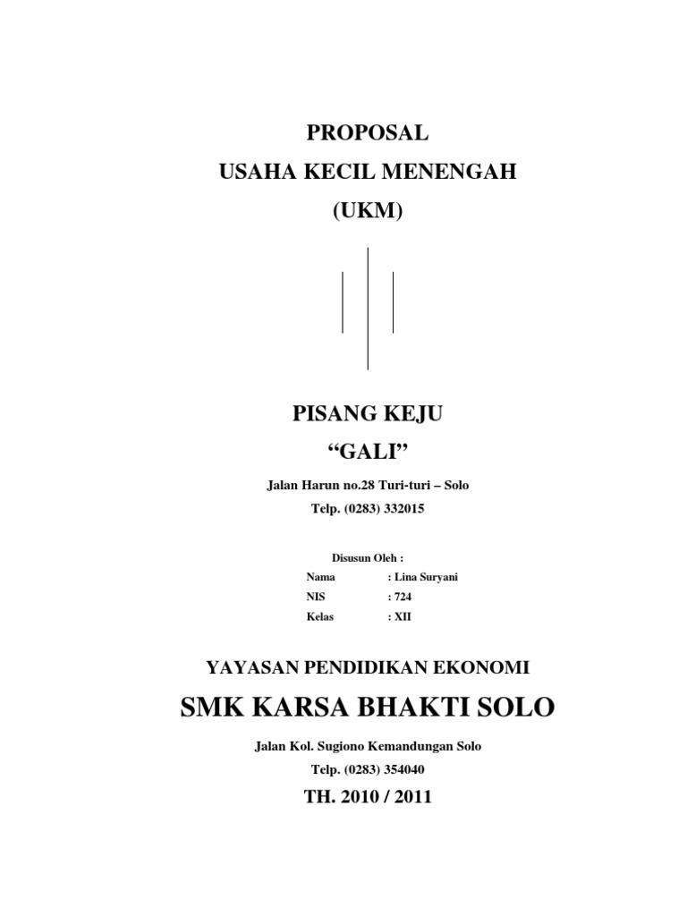 Proposal Ukm Pisang Keju