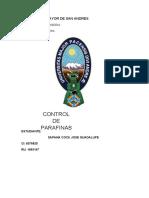 Tema 2 - Control de Parafinas