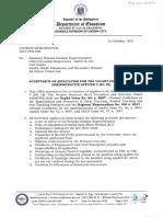 DIVISION MEMORANDUM S 2021-PER-009