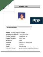 Hoja de vida Rolando Manrique Cardona