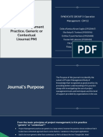 SG 3 - Journal PM Generic or Contextual