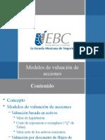 Modelos de valuación de acciones