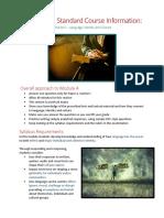 Sample+Course+Information +Standard+English+Module+A