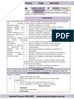 Enero - 6to Grado Inglés (2020-2021)