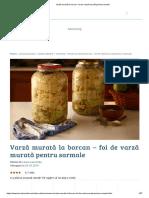 Varză Murată La Borcan - Foi de Varză Murată Pentru Sarmale