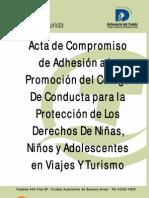 Código De Conducta para la Protección de Los Derechos De Niñas, Niños y Adolescentes en Viajes Y Turismo
