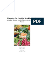 Planning for Healthy Neighborhoods1