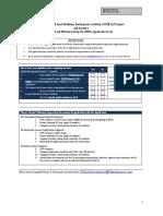 SME Application Form Template